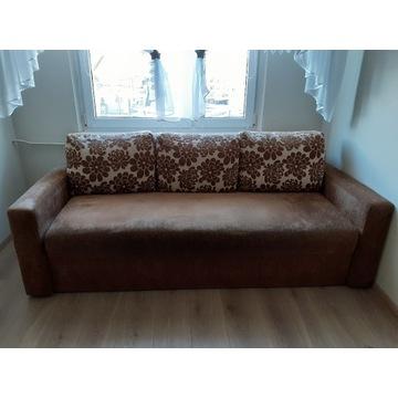 zestaw wypoczynkowy - kanapa, fotel, pufa