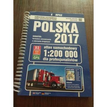 Samochodowy atlas Polski 1:200000