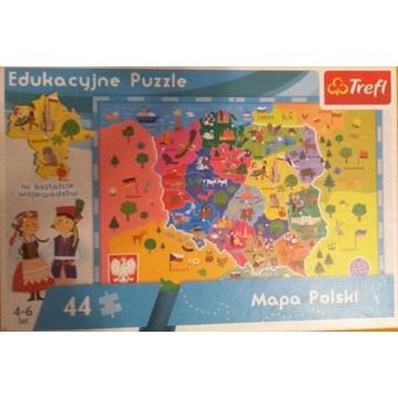 Edukacyjne puzle- Mapa Polski