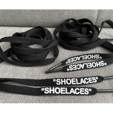 """Sznurówki OFF-White """"SHOELACES"""" czarne 160cm"""