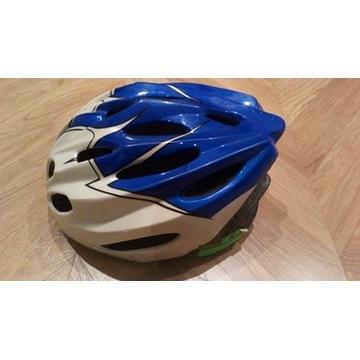 Kask rowerowy biało-niebieski rozm. M nowy