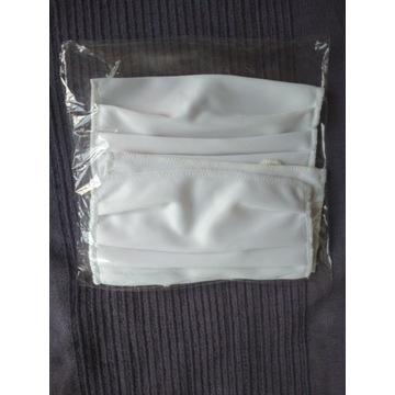 Maseczka trojwarstwowa biała kpl - 4 szt