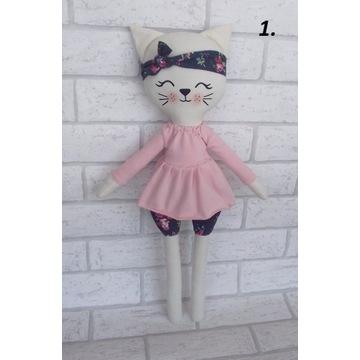 Kotek maskotka handmade 47 cm chrzest roczek wzory