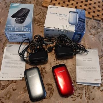 2 telefony Samsung z klapką GT-E1190 i GT-E1150i