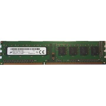 RAM 4GB 1Rx8 PC3-12800U-11-11-A1 DDR3 1600MHz