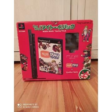 Playstation 2 Slim black Eya Toy Pack Box PS2