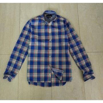 Tommy Hilfiger Koszula Męska Kratka Blue S/M