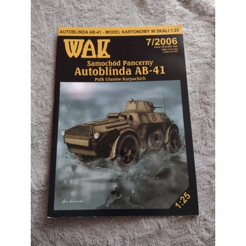 Model kartonowy WAK Autoblinda AB 41