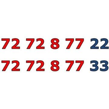 72 72 8 77 xx ZŁOTY ŁATWY NUMER STARTER PARA