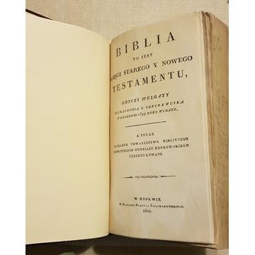 Biblia Wujka 1822 Moskwa Pismo Święte ST i NT