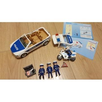 PLAYMOBIL 5184 + 5185 Motocykl i Radiowóz policja