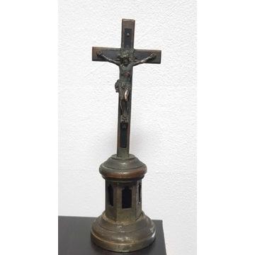 Antyk, przedwojenny krzyż, krucyfiks XIX wiek