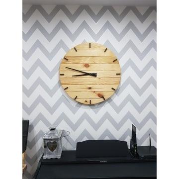 DiO Zegar ścienny z drewna unikat duży handmade