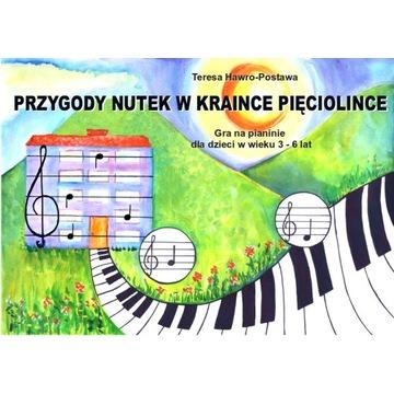 Nauka gry / gra na pianinie dla dzieci 3-6 lat