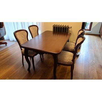 Stół plus krzesła ludwik komplet