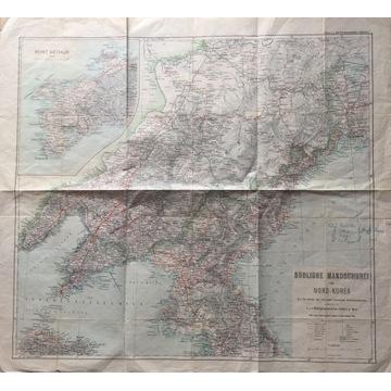 Wojskowa Mapa Korei Północnej i Mandżurii 1904