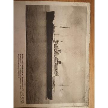 Okręt St.Louis Hamburg-Amerika Linie plan rejsu