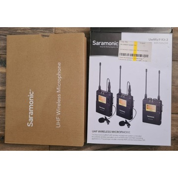 Saramonic UwMic9 Kit2 ( RX9+TX9+TX9 ) zestaw audio