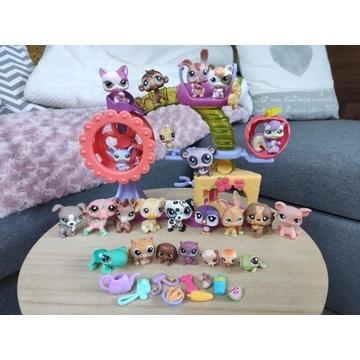 Littlest Pet Shop zestaw 24 LPS + plac zabaw