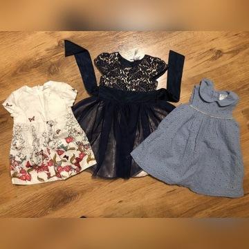 Sukienka 74 80 9-12 paka Zara
