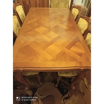 Stół drewniany z 6 krzesłami