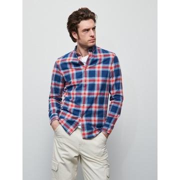Nowa Koszula RESERVED slim fit w kratę L