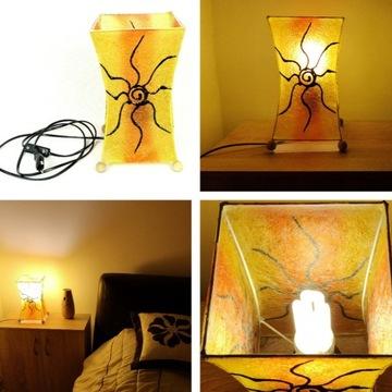 Lampka nocna z żywicy, stali i włókna szklanego