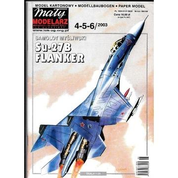 Mały Modelarz 4-5-6 2003 SU-27 Flanker model 1:33