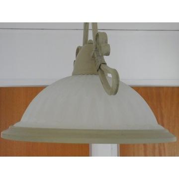 żyrandol lampa metalowa ze szklanym kloszem nr1596