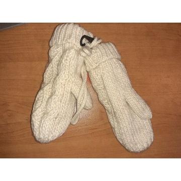 Nowe rękawiczki dziecięce jednopalczaste beżowe