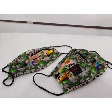 Maseczki maseczka bawełniana Minecraft