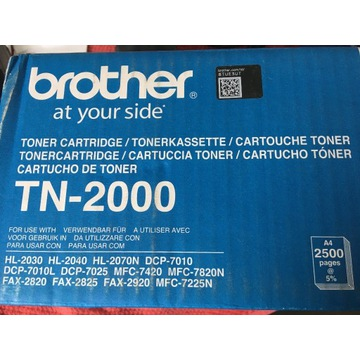 Nowy oryginalny (otwarte opakowanie) toner TN-2000