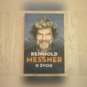 """Nowa KSIĄŻKA Reinhold  """"Messner o życiu"""" cena!!!!!"""