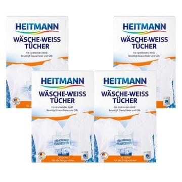 Niemieckie chusteczki białego prania Heitmann x4