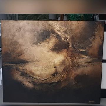 abstrakcja obraz ręcznie maloway OTCHŁAŃ 120 X 100