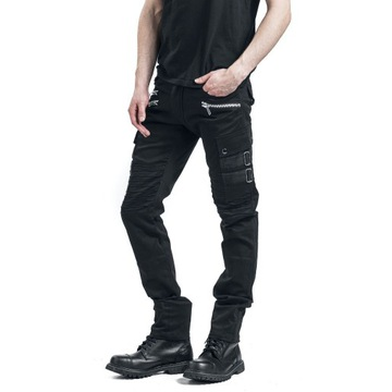 Chemical Black - Anders Pants 36/34 goth