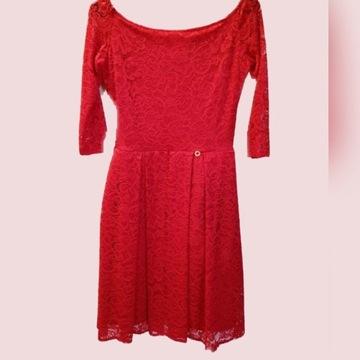 Czerwona koronkowa sukienka rozm. L
