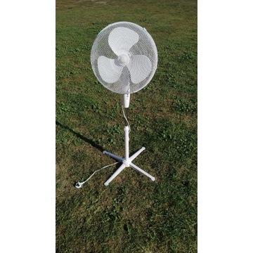 NOWY Wentylator stojący 40 cm 45 W biały wiatrak