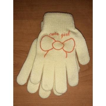Rękawiczki dla dziewczynki dziecięce nowe 7 18 L