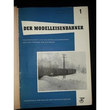 DER MODELLEISENBAHNER 1961 OPRAWINY rocznik