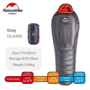 Śpiwór NatureHike ULG400 Puchowy