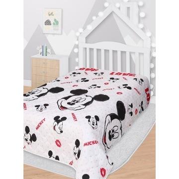 Narzuta na łóżko Myszka Mickey  142x205cm pikowan