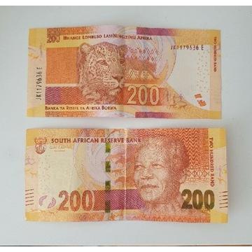 Banknot 200 rand RPA Republika Południowej Afryki