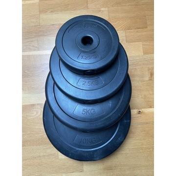 Zestaw talerzy kompozytowych 75 kg, obciążenia