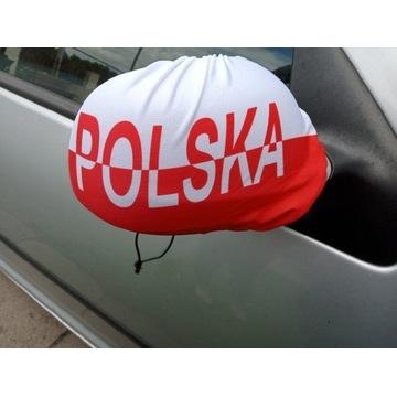 Flaga Polski  na lusterka samochodowe