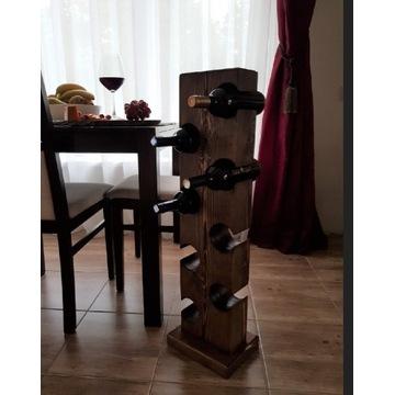Regał drewniany pòłka na wino stojak na 8 butelek