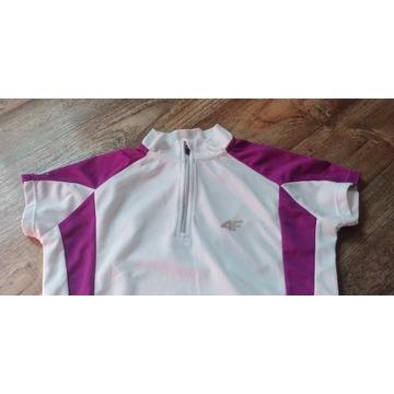 Koszulka rowerowa 4F damsk rozm. S, biała+fioletow