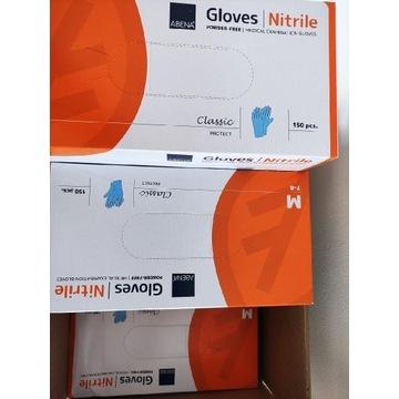 Rękawiczki nitrylowe bezpudrowe 150szt ABENA