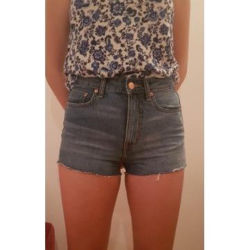 Nowe jeansowe szorty z wysokim stanem 36 H&M