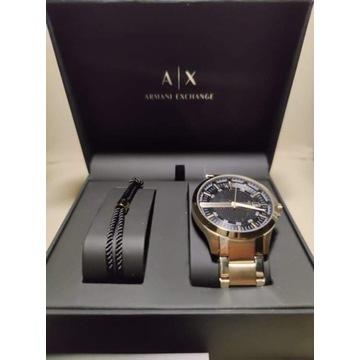 Armani Exchange Hampton set zegarek bransoletka
